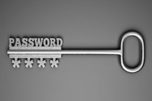 Image of memorable passwords as a key