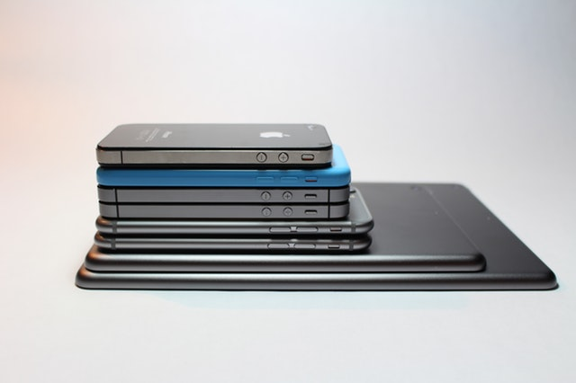 image of a stack of Apple devices