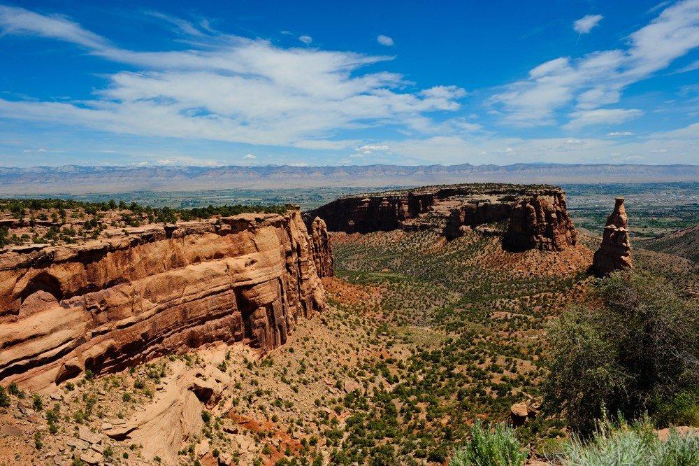 Mountain ridge overlooking the valley