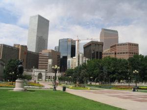 Denver's Central Business District near Denver, CO