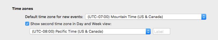 Outlook calendar time zones